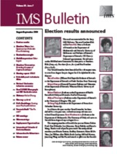 IMS Bulletin 38(7) cover image
