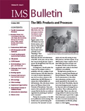 IMS Bulletin 38(8) cover image