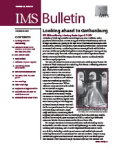 IMS Bulletin 38(10) cover image