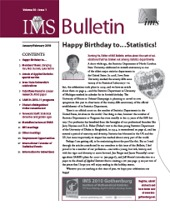 IMS Bulletin 39(1) cover image