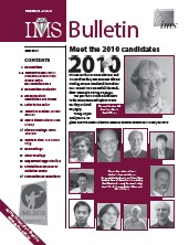IMS Bulletin 39(4) cover image