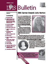 IMS Bulletin 39(5) cover image