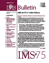 IMS Bulletin 39(6) cover image