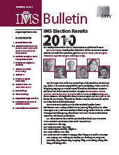 IMS Bulletin 39(7) cover image