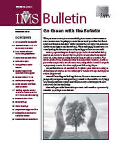 IMS Bulletin 39(9) cover image