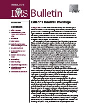 IMS Bulletin 39(10) cover image