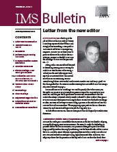 IMS Bulletin 40(1) cover image
