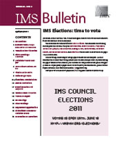 IMS Bulletin 40(3) cover image