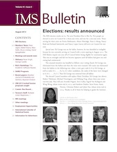 IMS Bulletin 41(5) cover image