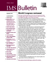 IMS Bulletin 41(6) cover image