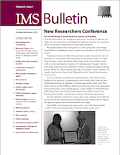IMS Bulletin 41(7) cover image