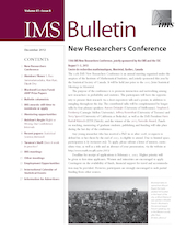 IMS Bulletin 41(8) cover image