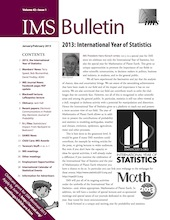IMS Bulletin 42(1) cover image