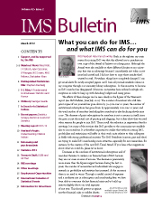 IMS Bulletin 42(2) cover image