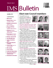 IMS Bulletin 42(3) cover image