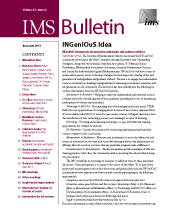 IMS Bulletin 42(4) cover image