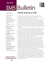 IMS Bulletin 42(6) cover image
