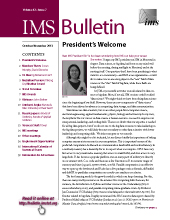 IMS Bulletin 42(7) cover image