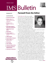 IMS Bulletin 42(8) cover image