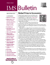 IMS Bulletin 43(1) cover image