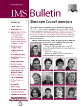 IMS Bulletin 43(3) cover image