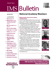 IMS Bulletin 43(4) cover image
