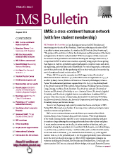 IMS Bulletin 43(5) cover image