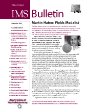 IMS Bulletin 43(6) cover image
