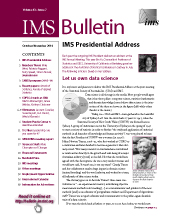 IMS Bulletin 43(7) cover image
