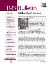 IMS Bulletin 43(8) cover image