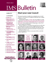 IMS Bulletin 44(3) cover image