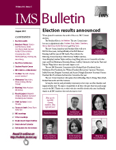 IMS Bulletin 44(5) cover image