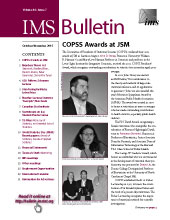 IMS Bulletin 44(7) cover image