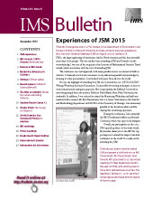 IMS Bulletin 44(8) cover image