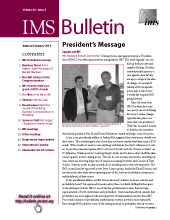 IMS Bulletin 45(1) cover image