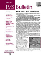 IMS Bulletin 45(2) cover image