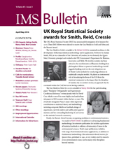 IMS Bulletin 45(3) cover image