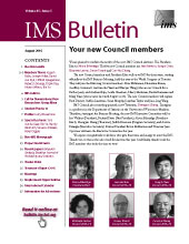 IMS Bulletin 45(5) cover image