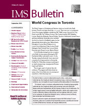 IMS Bulletin 45(6) cover image
