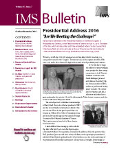 IMS Bulletin 45(7) cover image