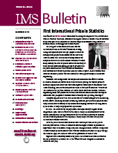 IMS Bulletin 45(8) cover image
