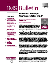 IMS Bulletin 46(1) cover image