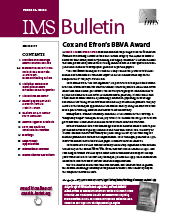 IMS Bulletin 46(2) cover image
