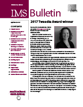 IMS Bulletin 46(3) cover image