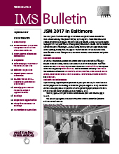 IMS Bulletin 46(6) cover image