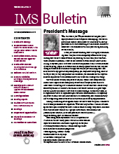 IMS Bulletin 46(7) cover image