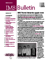 IMS Bulletin 46(8) cover image