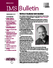 IMS Bulletin 47(1) cover image