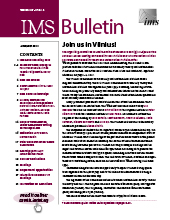 IMS Bulletin 47(4) cover image
