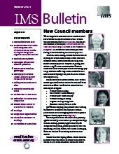 IMS Bulletin 47(5) cover image